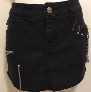 Goth punk royal bones miniskirt